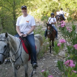 In the dried bed of the river Pollina Sicily Horse Tours